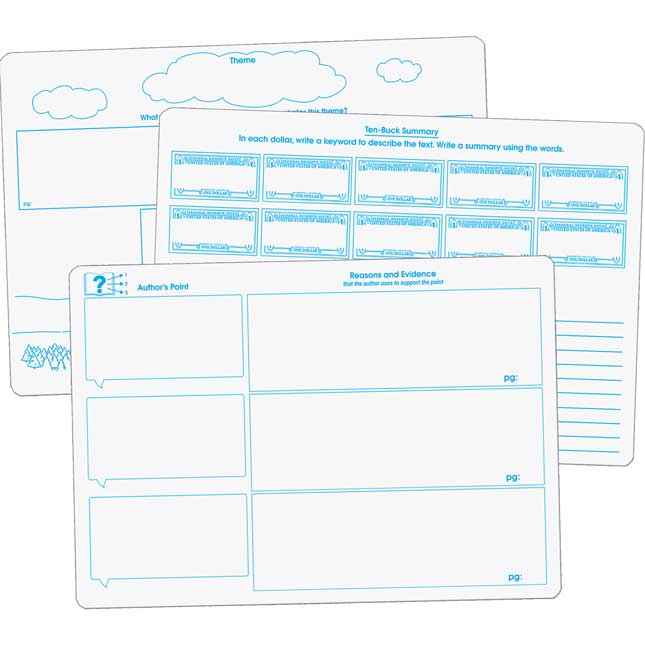 Comprehension Graphic Organizer Dry Erase Boards Text Evidence Set_0