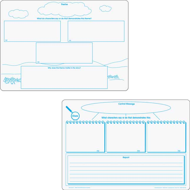 Comprehension Graphic Organizer Dry Erase Boards Text Evidence Set_1