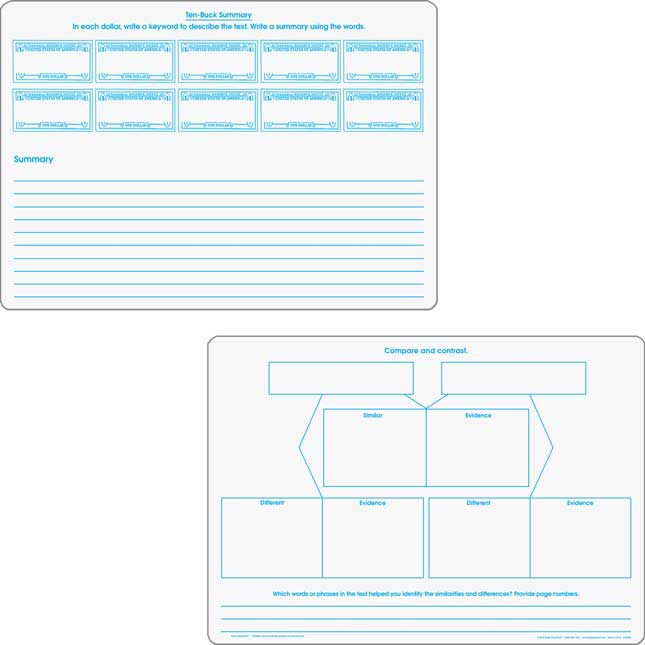 Comprehension Graphic Organizer Dry Erase Boards Text Evidence Set_2