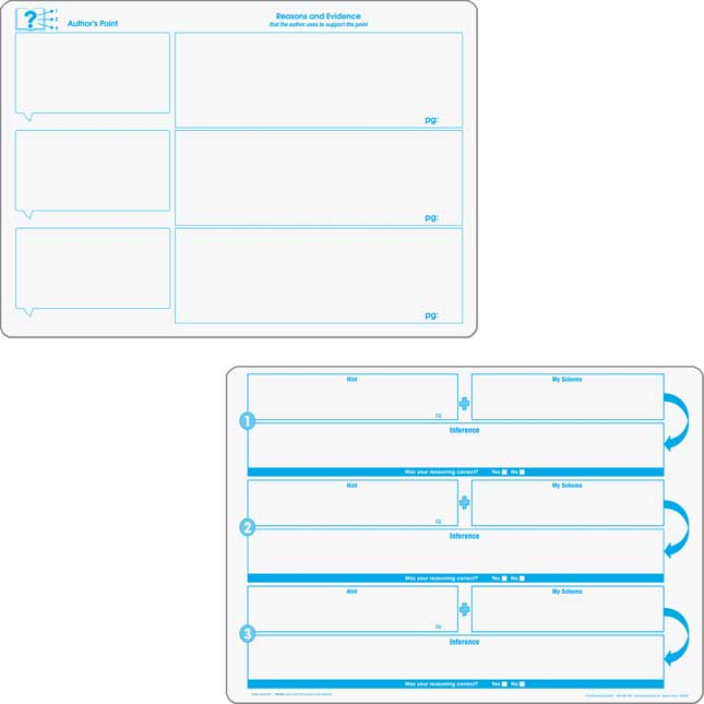 Comprehension Graphic Organizer Dry Erase Boards Text Evidence Set_3