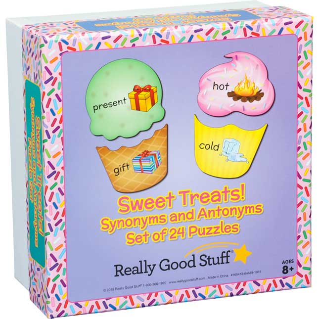 Sweet Treats! Synonyms And Antonyms Puzzle Set