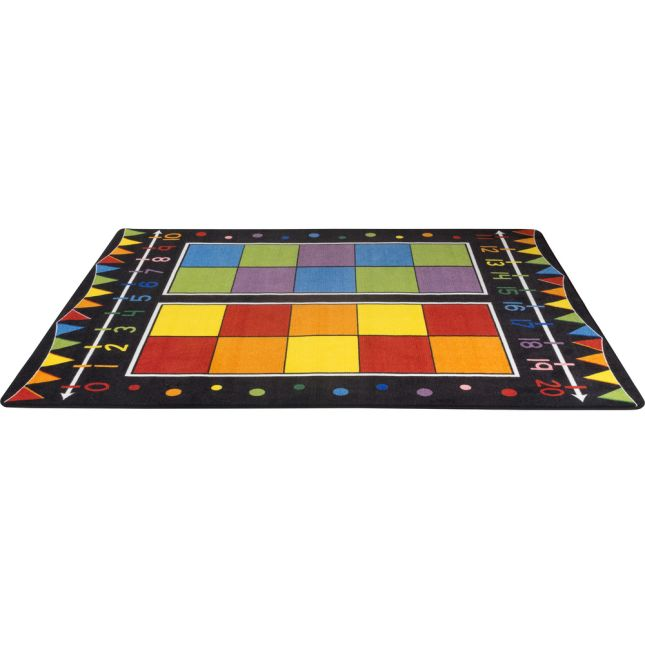 Double Ten Frame Classroom Rug With Number Line - 1 rug