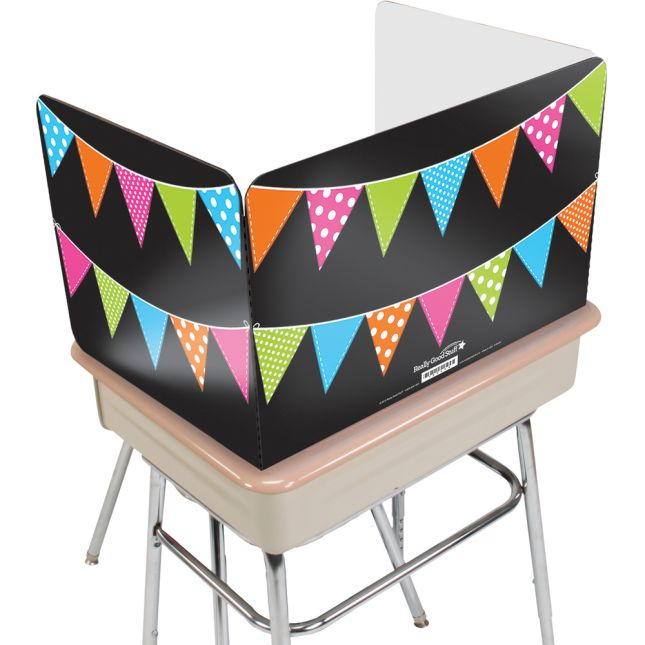 Large Privacy Shields - Set of 12 - Neon Pennants - Glossy