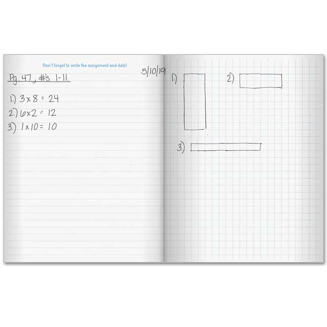Show-Your-Work Math Journals - 12 journals