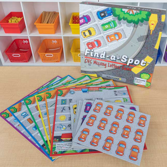Find-A-Spot CVC Missing Letters Game