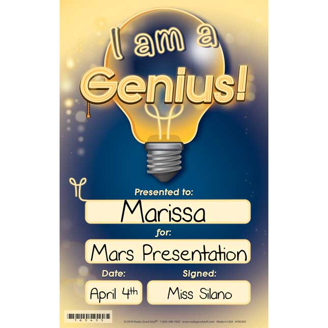 Genius Hour Certificates