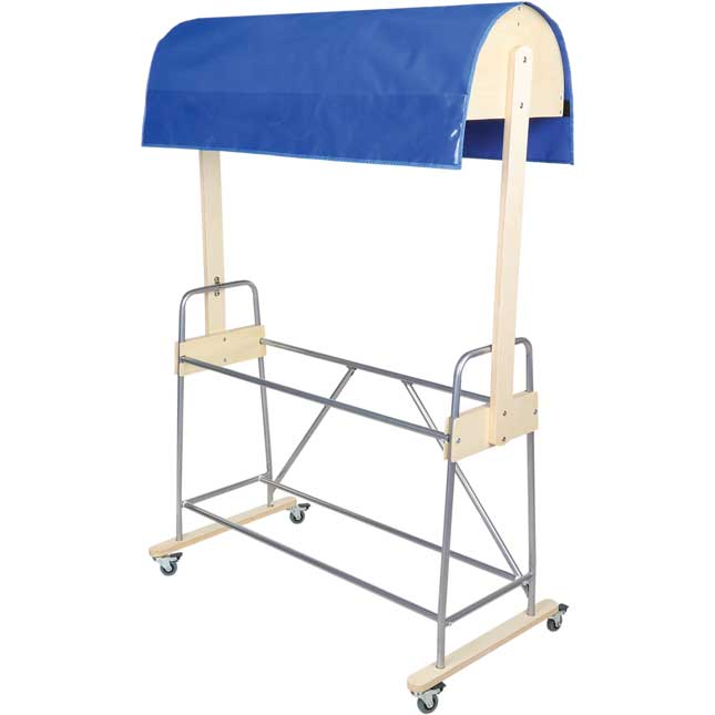 Mobile Storage Rack With Reading Canopy And Bins
