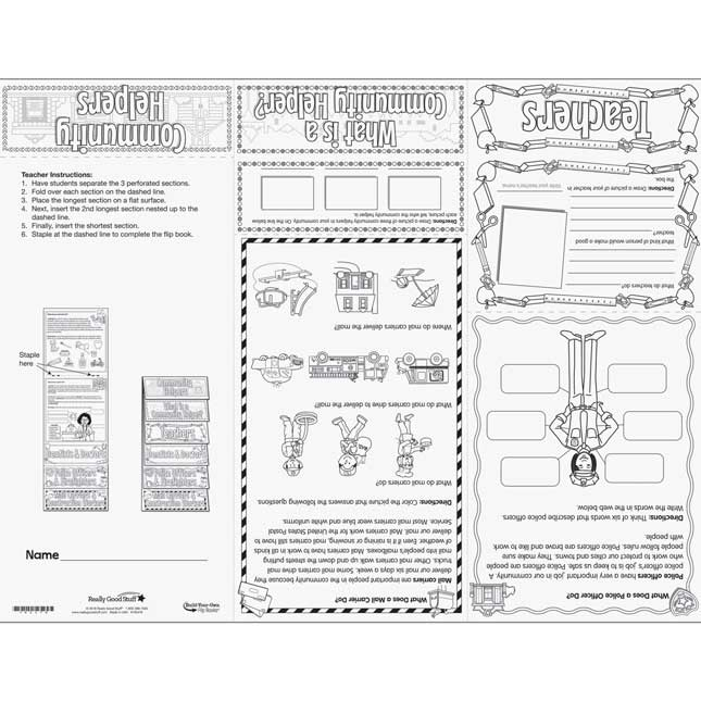 Build-Your-Own Flip Book™ - Community Helpers