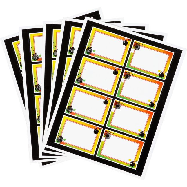 Apple Name Tags - 40 labels