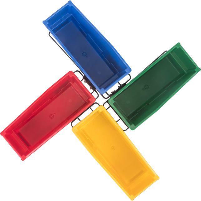 Multi-Directional 4-Bin Wire Rack
