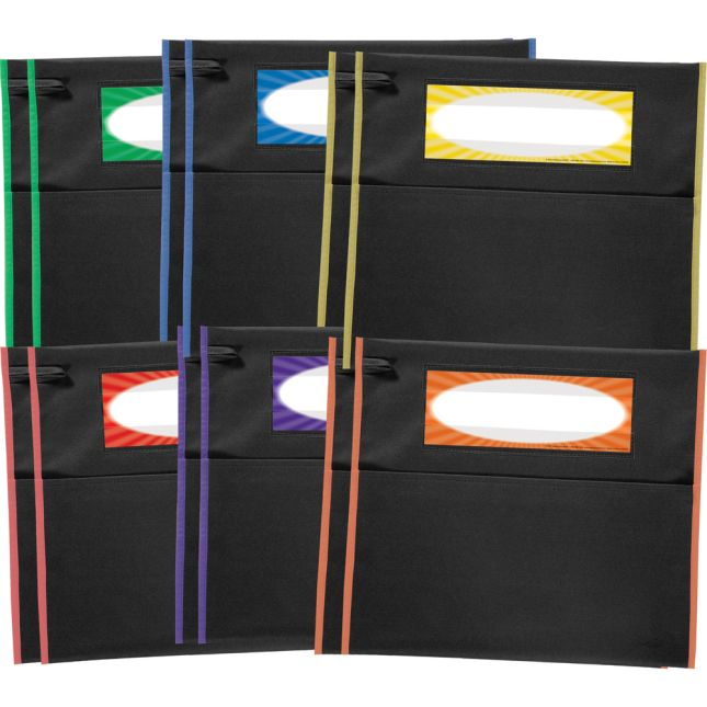 Grouping Chair Pockets - 12 Pack - 6 Group Colors - Black