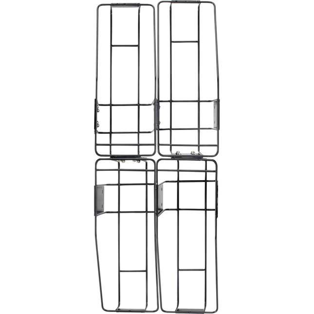 Multi-Directional 4-Bin Wire Rack With Single-Color Bins - 1 rack, 4 bins
