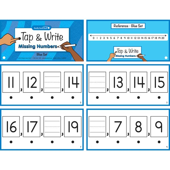 Tap and Write  Missing Numbers - 123 cards