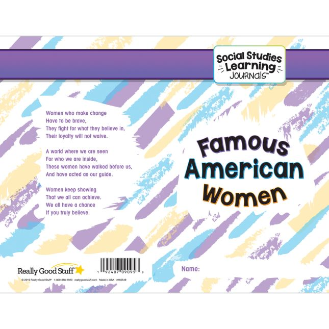 Social Studies Learning Journals  Famous American Women - 24 journals