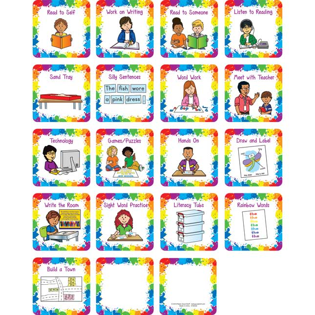 Literacy Stations Pocket Chart Cards