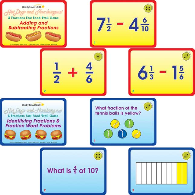 Hot Dogs And Hamburgers! A Fractions Fast Food Trail Game