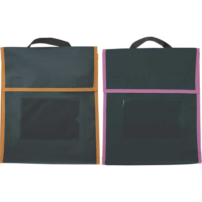 Paw Prints Book Pouches And Labels - Black With Neon Trim - Set Of 12_2