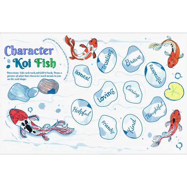 Ready-To-Decorate® Character Koi Jumbo Lift-A-Flaps - Primary