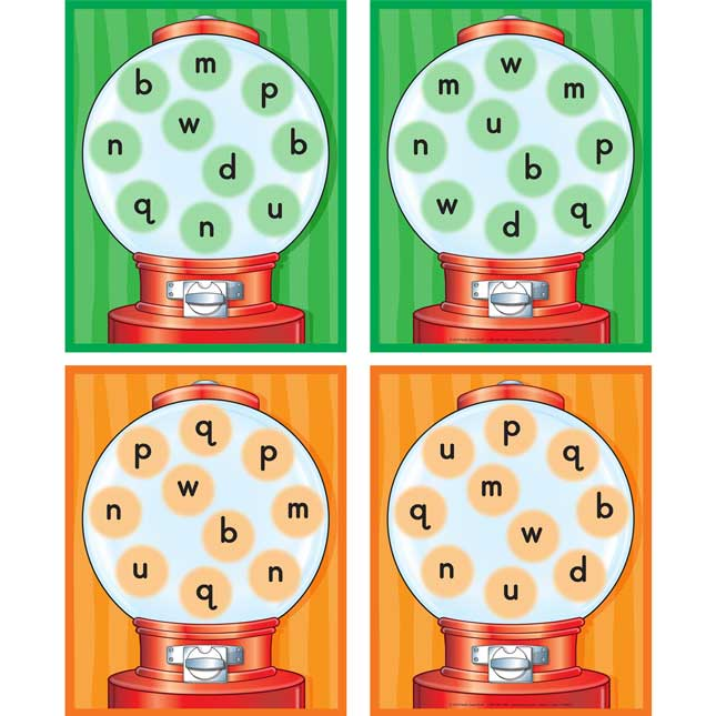 Letter Reversal Gumball Game - 1 game