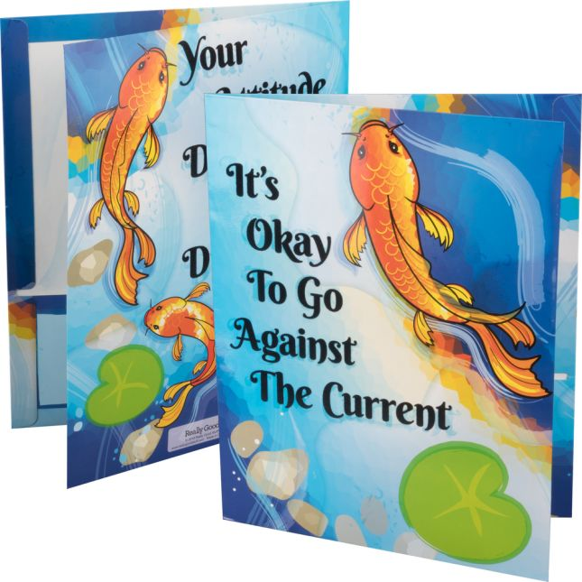 Character Koi Tactile Folders - 2 Pocket - 12 Pack