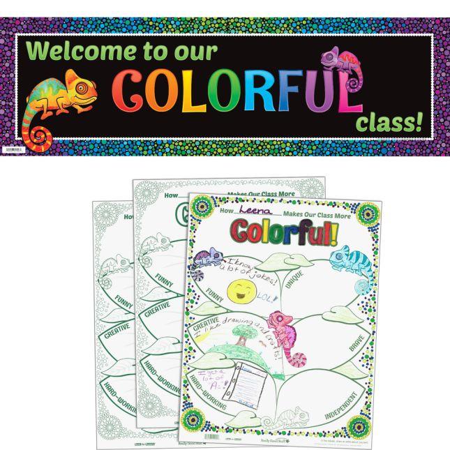 Ready-To-Decorate® Chameleon Bulletin Board Kit