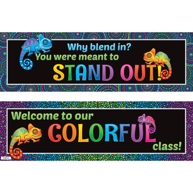 Ready-To-Decorate® Chameleon Bulletin Board Kit - 1 banner, 24 posters
