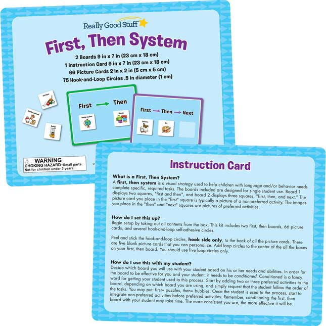 First, Then System - 2 boards, 66 cards