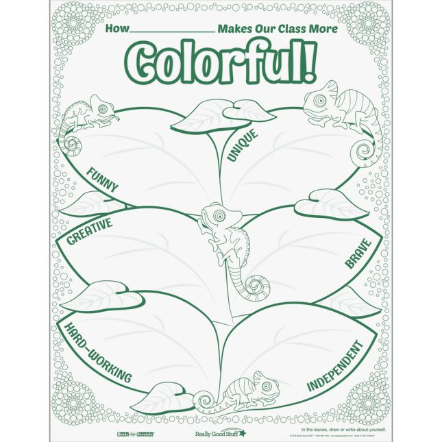 Ready-To-Decorate® Chameleon Posters