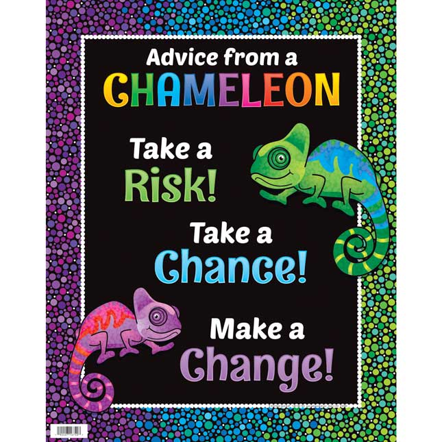 Chameleon Colorful World Poster