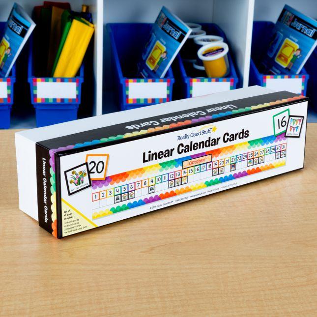 Linear Calendar - 1 calendar set
