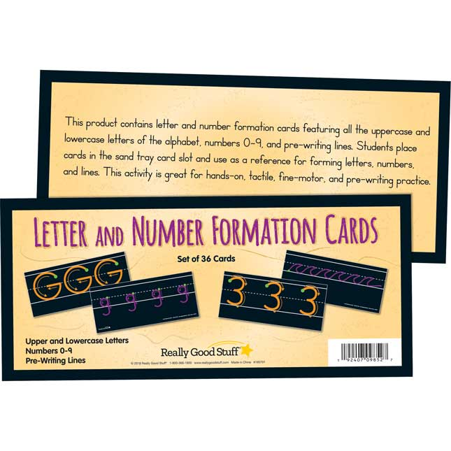 Letter And Number Formation Cards - 36 cards