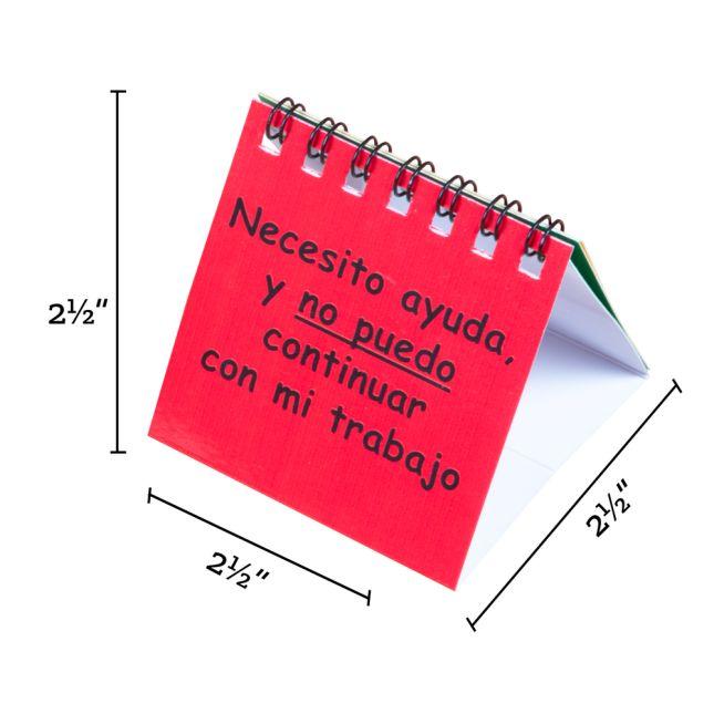Spanish I Need Help! Mini Flip Chart Set (¡Necesito ayuda! Mini Rotafolios)