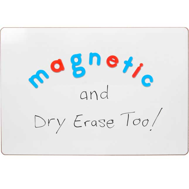 """Write Again® 18"""" X 12"""" Magnetic Dry Erase Board And Magnetic Letters"""