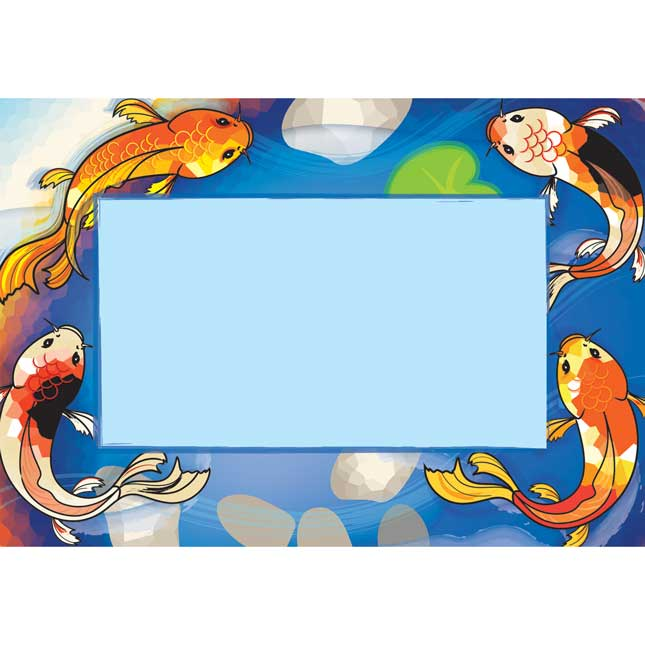 Character Koi Book Pouches And Labels - 12 pouches, 12 labels