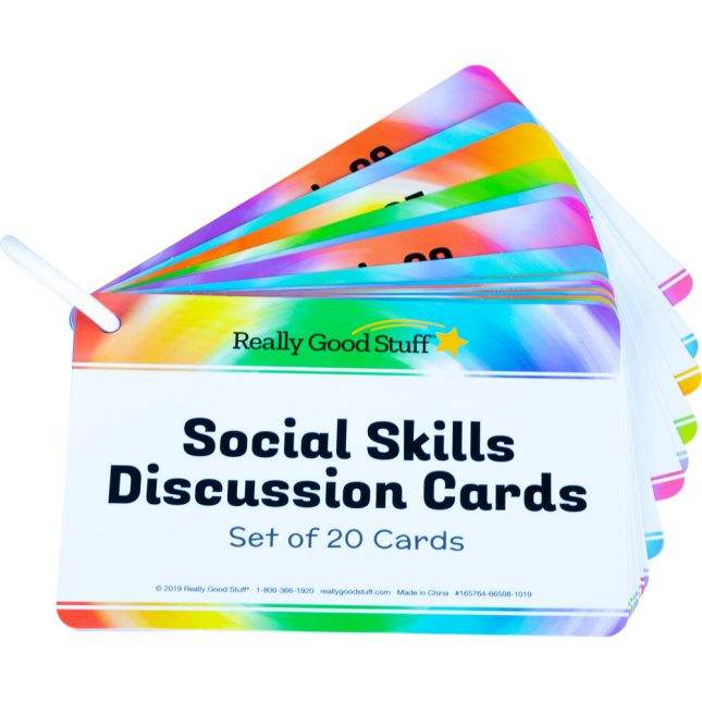 Social Skills Discussion Cards - 20 cards on a plastic ring