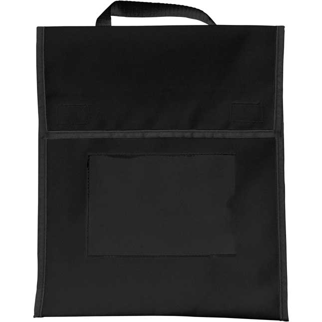 Store More® Book Pouches And Labels - Black - Set Of 12