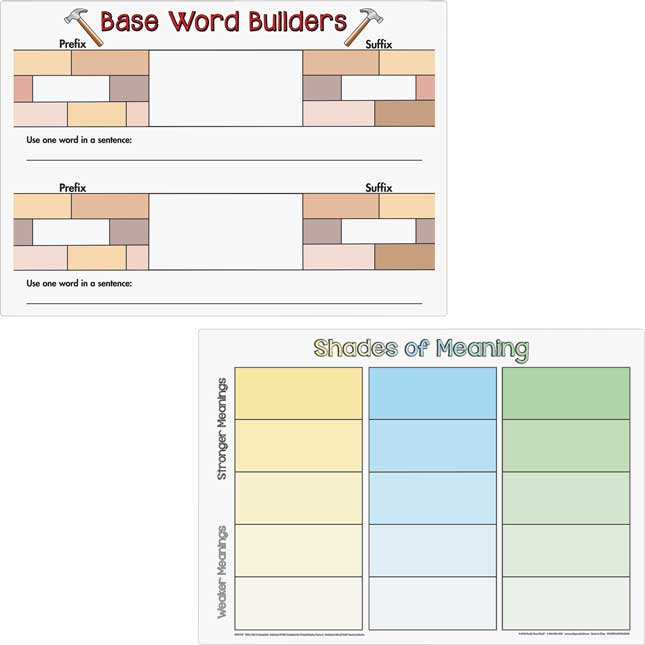 Word Map Dry Erase Boards