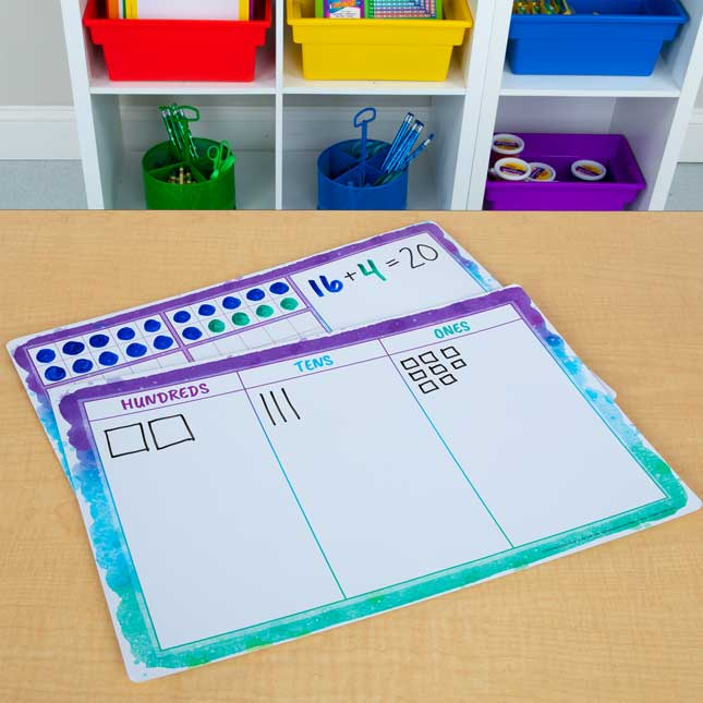 Ten-Frames And Place Value Work Mats