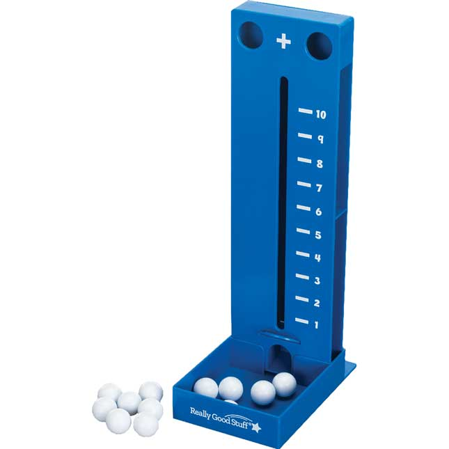 Addition Tower And Task Cards - 1 tower, 12 plastic spheres, 20 cards