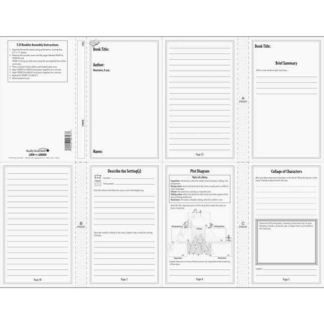 Ready-To-Decorate Book Reports - 24 booklets