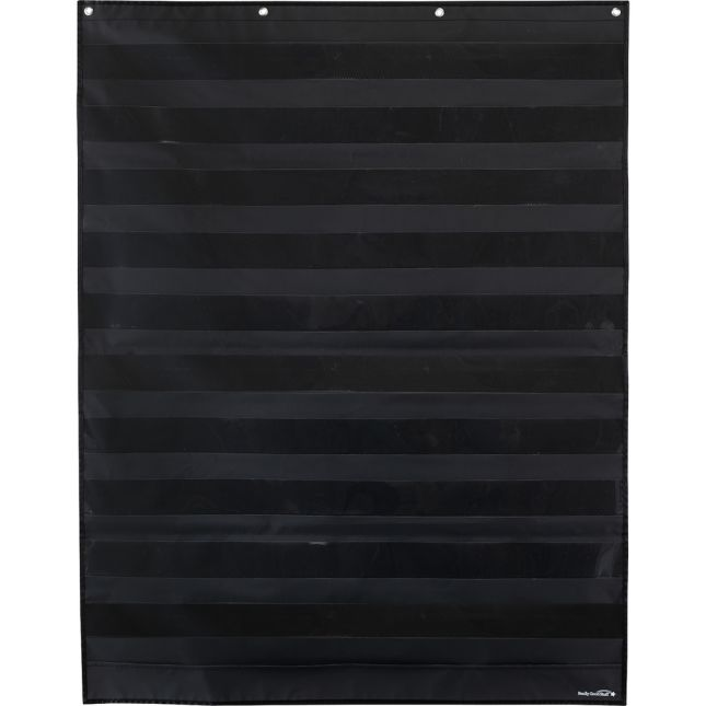 Large Rectangle Pocket Chart  Black - Black