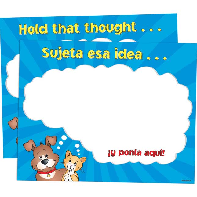 Hold That Thought Poster - English/Spanish