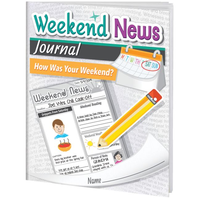 Weekend News Journals - 12 journals