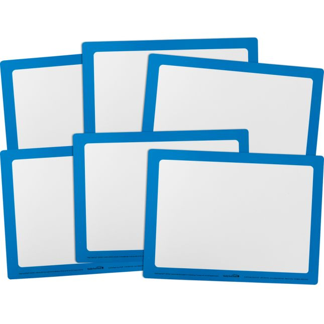 Dry Erase Boards – Set Of 6 – Blue