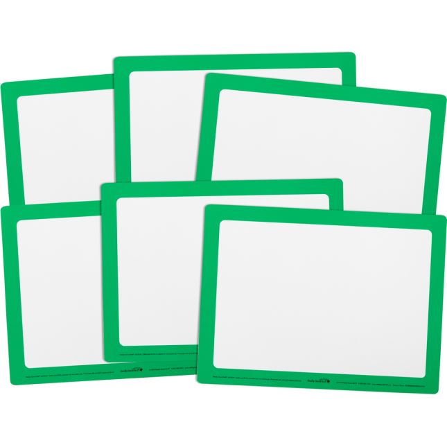 Dry Erase Boards – Set Of 6 – Green