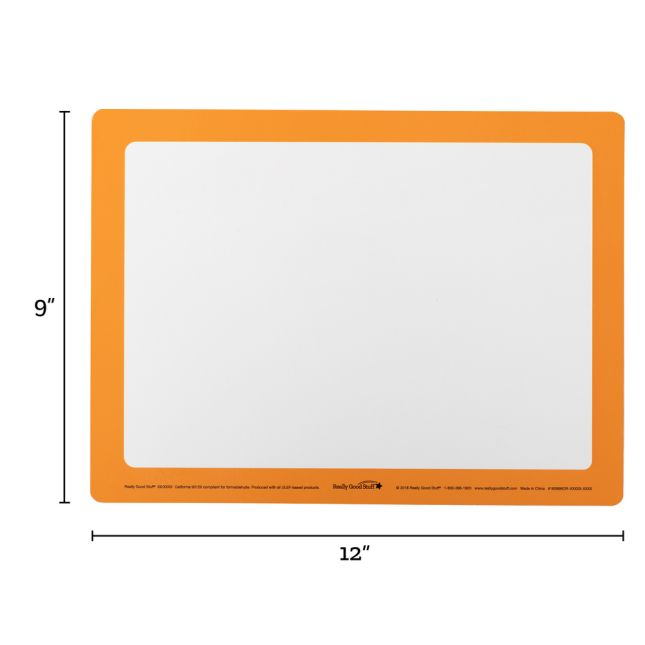 Dry Erase Boards – Set Of 6 – Orange