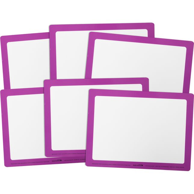 Dry Erase Boards – Set Of 6 – Purple