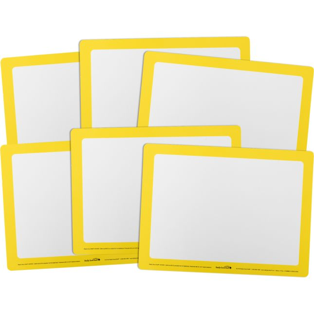 Dry Erase Boards – Set Of 6 – Yellow