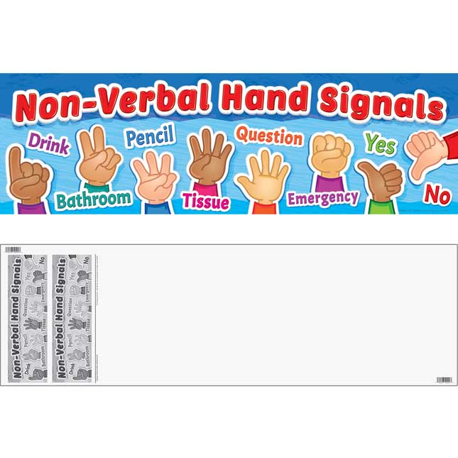 Non-Verbal Hand Signals Banner