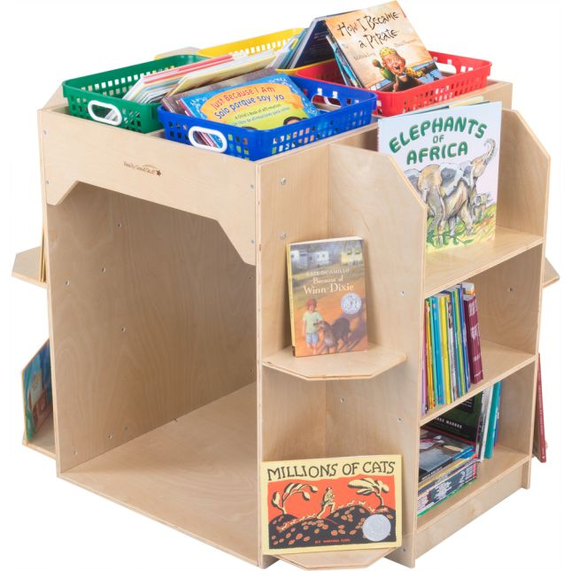 Library Island With Reading Cove And Baskets - 4 Colors